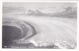 Alaska Aerial View Columbia Glacier  Real Photo