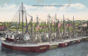 ST. AUGUSTINE , Florida , 30-40s ; Shrimp Fishing Boats
