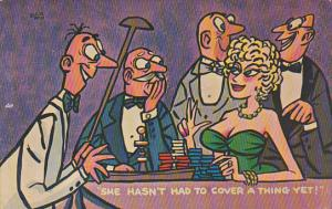 Old men gawking over blond bombshell at the Roulette wheel, She hasn´t had ...