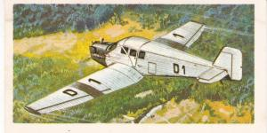 Trade Card Brooke Bond Tea History of Aviation black back reprint No  12  Junker