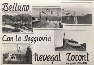RP: BELLUNO , Italy , 1930-50s ; Con La Seggiovia Nevegal Toront , Skiing