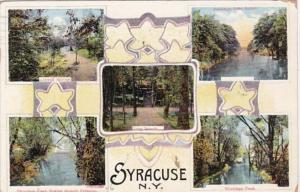 New York Syracuse Rockwell Springs Onondaga Lake Outlet & Onondaga Creek 1915