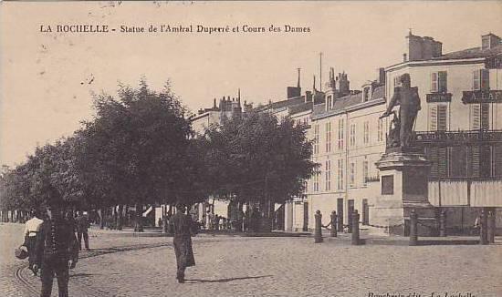 Statue De l'Amiral Duperre Et Cours Des Dames, La Rochelle (Charente-Maritime...