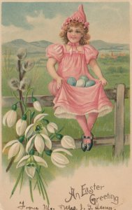 EASTER ; Girl on fence , 00-10s