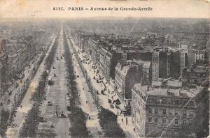 France Paris Avenue de la Grande Armee General view