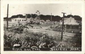 Beatrice NE Riverside Amusement Park c1910 Real Photo Postcard SCARCE!
