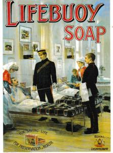 Post Card GREAT WAR SERIES  Advertising with a war-time theme Lifebuoy Soap
