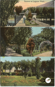 Scenes at Lagoon Utah Souvenir Novelty Company Vintage Postcard