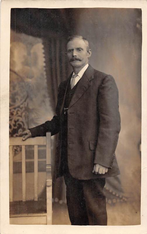 Elegant Man, Suit, Fashion Moustache, Ramsden, Wormald St., Heckmondwike