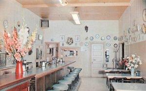 BLEWETT'S CAFE San Andreas, California Diner Interior ca 1950s Vintage Postcard