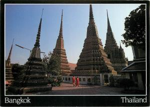 Thailand Bangkok view of the inner courtyard of the Wat Po