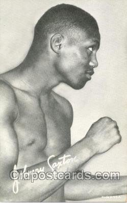 Johnny Saxton Boxing exhibit non postcard postcards Unused