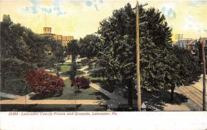 Lancaster Pennsylvania~Lancaster County Prison & Grounds~c1905 Postcard