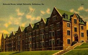 PA - Bethlehem. Lehigh University. Richards House