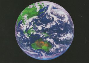 Australia Oceania From Outer Space Rare Astronomy Map Postcard