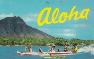 WAIKIKI , Hawaii , 1973 ; Outrigger Canoe