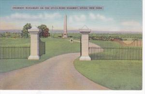 New York Utica Oriskany Monument On The Utica-Rome Highway 1939