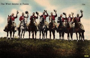Texas The West Begins In Texas Cowboys On Horseback