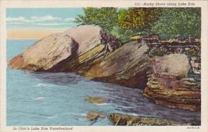 Ohio Rocky Shore Along Lake Erie Curteich