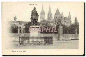 Old Postcard Caen Statue of Louis XIV