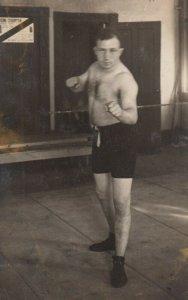 RP: BOISE , Idaho , 1900-10s ; Bare Knuckle Boxer