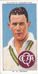 Player Vintage Cigarette Card Cricketers 1938 No 39 W A Brown New South Wales...