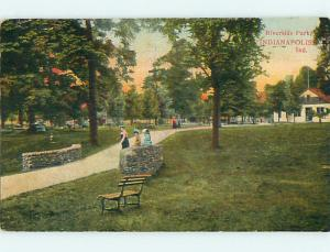 Divided-Back RIVERSIDE PARK SCENE Indianapolis Indiana IN r7982