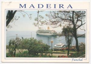 Cruise Ship - Funchal, Madeira  - Post Card - Unused