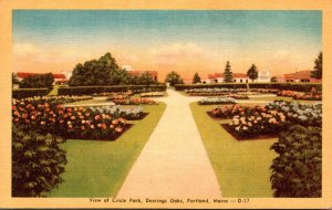 Maine Portland Deering Oaks View Of Circle Park Dexter Press