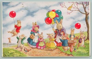 Racey Helps Fantasy~The Balloon Seller~Lady Sells To Lil Bunnies~Red~Blue~Medici