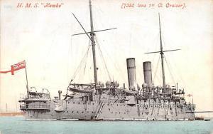 Military Battleship Postcard, Old Vintage Antique Military Ship Post Card HMS...