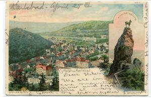 Panorama Karlovy Vary Carlsbad Karlsbad Czech Republic 1900 postcard
