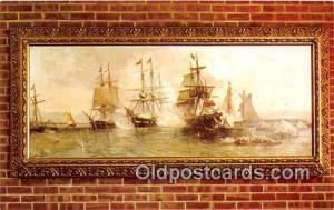Battle of Plattsburgh JO Davidson Oil Painting Patriotic Postcard Post Card J...