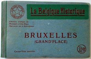 VINTAGE 12 POSTCARDS ALBUM GRAND'PLACE - BRUSSELS. Printer: Desaix. UNUSED!!!