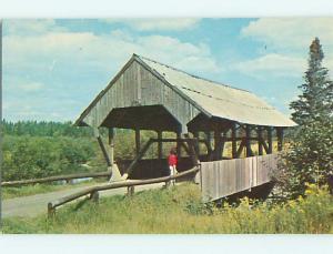 Unused Pre-1980 COVERED BRIDGE PITTSBURG Near St. Johnsbury NH t7538