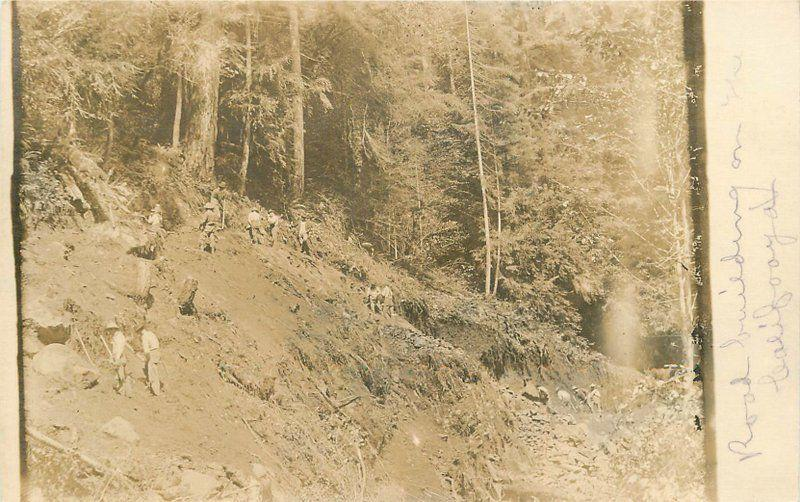C-1910 Occupational Worker road building California RPPC real photo 5676