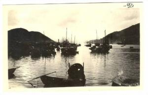 RP; Ships in harbour, ABERDEEN, Hong Kong, China, 1910-20s