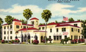 Florida Tampa Hotel Hudson Manor 1954 Curteich