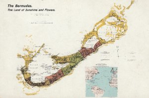 Map of BERMUDA , 1900-10s