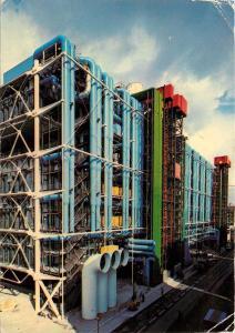 Centre National d'Art et de Culture Georges Pompidou France Postcard