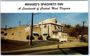 CLARKSBURG, West Virginia  WV   Roadside  MINARD'S SPAGHETTI INN  Postcard