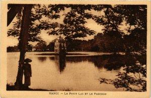 CPA AK INDOCHINA Hanoi Le Petit Lac et le Pagodon VIETNAM (957264)