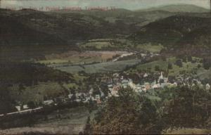 Townshend VT From Mountain c1910 Postcard