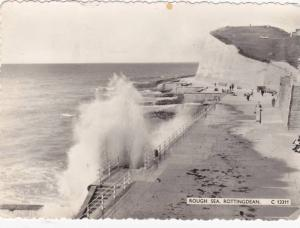 RP; Rough Sea, Rottingdean, Sussex, England, United Kingdom, PU-1964