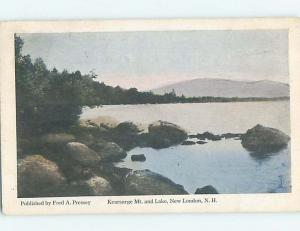 Divided-Back WATER SCENE New London New Hampshire NH hk2997
