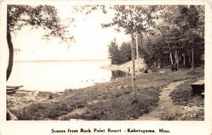 D47/ Kabetogama Minnesota Mn Real Photo RPPC Postcard c30s Rock Point Resort