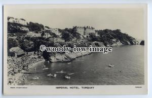 tp9113 - Devon - The Imperial Hotel from across the Bay, at Torquay - postcard