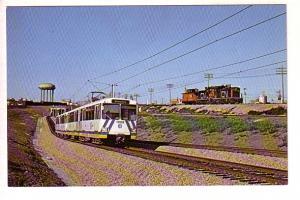 Outbound Edmonton LRT Train, CN Caboose Hop, Belvedere Station, Alberta, Phot...