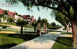 California Pasadena Orange Grove Avenue