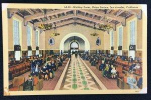 Los Angeles California Union Station Train Railway Depot Vintage Unposted